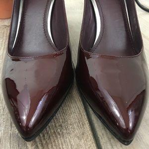 Stuart Weitzman Shoes - Stuart Weitzman Patent Finish Oxblood Heels